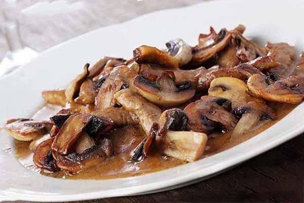 Рецепт бефстроганов с грибами